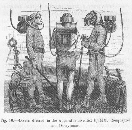 FMIB_49984_Divers_dressed_in_the_Apparatus_Invented_by_MM_Rouquayrol_and_Denayrouze