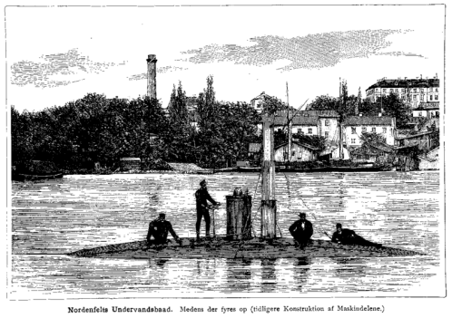 Nordenfelt_Submarine_-_Illustreret_Tidende_-_1885