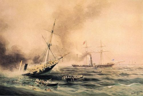 800px-Battle_of_Kearsarge_and_Alabama_(1892)_by_Xanthus_Smith