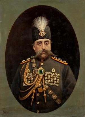 Portrait_of_Muzaffar_al-Din_Shah_Qajar_by_Kamal-ol-molk,_1902