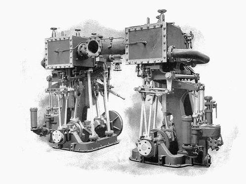 800px-Alley_&_MacLellan_twin-screw_marine_steam_engines_(Rankin_Kennedy,_Modern_Engines,_Vol_V)