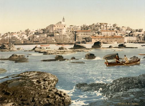 800px-Flickr_-_…trialsanderrors_-_Jaffa_from_the_sea,_Holy_Land,_ca._1895