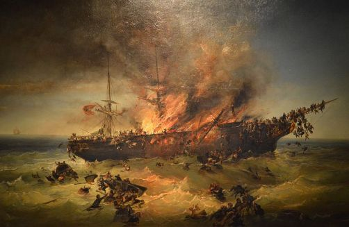 Puttner_-_1858_-_Sinking_of_emigrant_ship_Austria